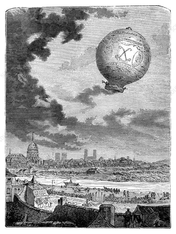 First manned balloon flight, 1783
