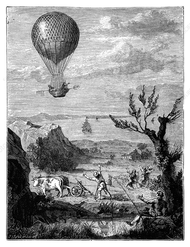 English Channel balloon crossing, 1785