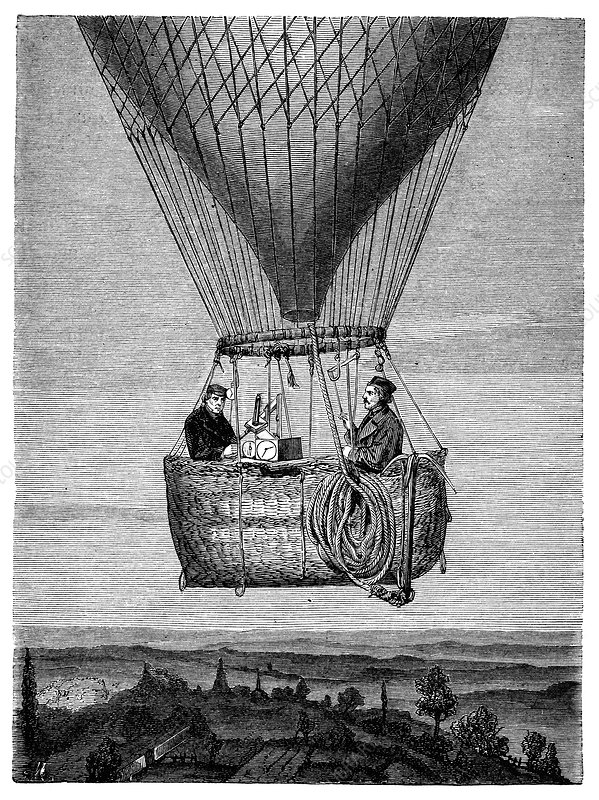 Glaisher-Coxwell balloon flight, 1860s