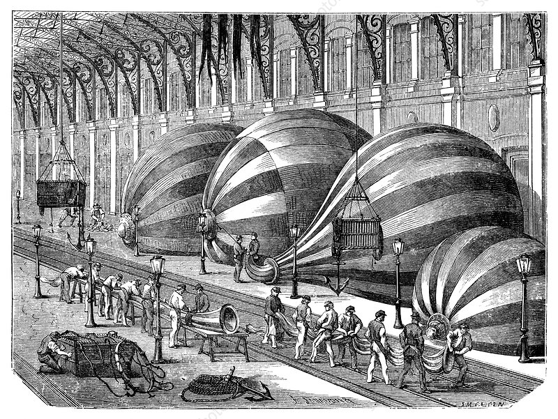 Siege of Paris balloon factory, 1870s