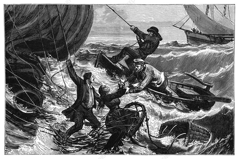 'Le Tricolore' balloon rescue, 1874