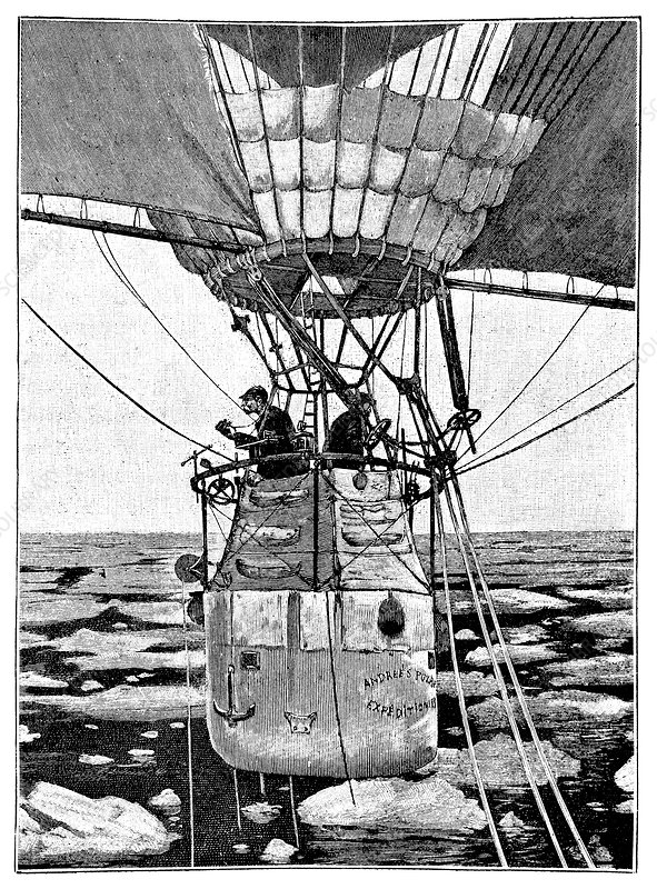Andree's Arctic balloon expedition, 1897