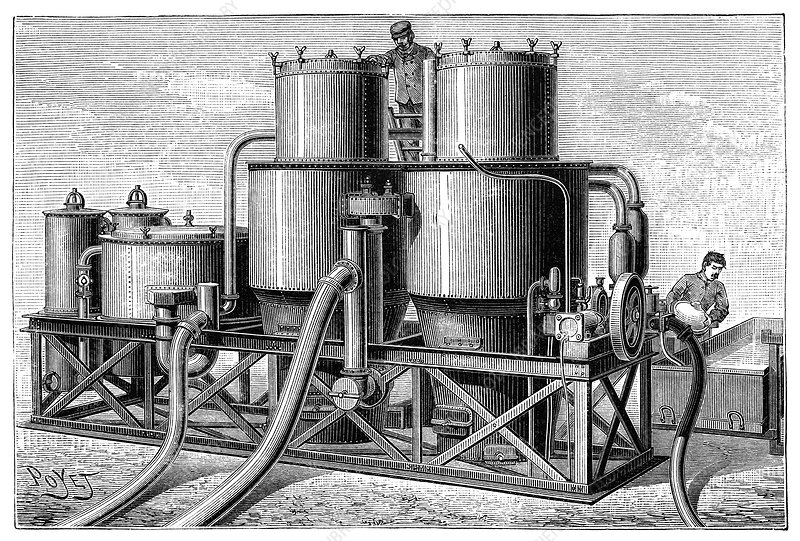 Hydrogen gas production apparatus, 1890s
