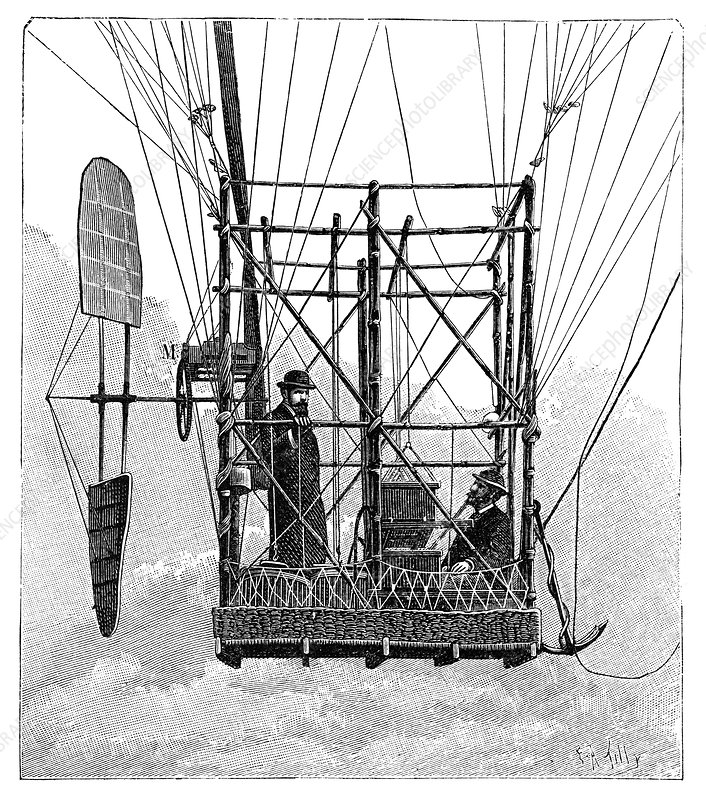 Tissandier electric airship, 1880s