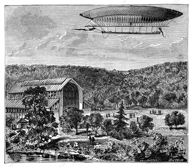 'La France' electric airship, 1884