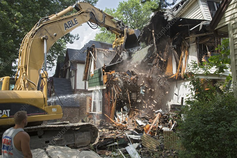 Vacant home demolition