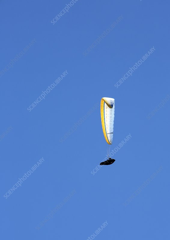 Paraglider in flight