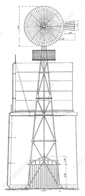 wind turbine  illustration - stock image c023  4902