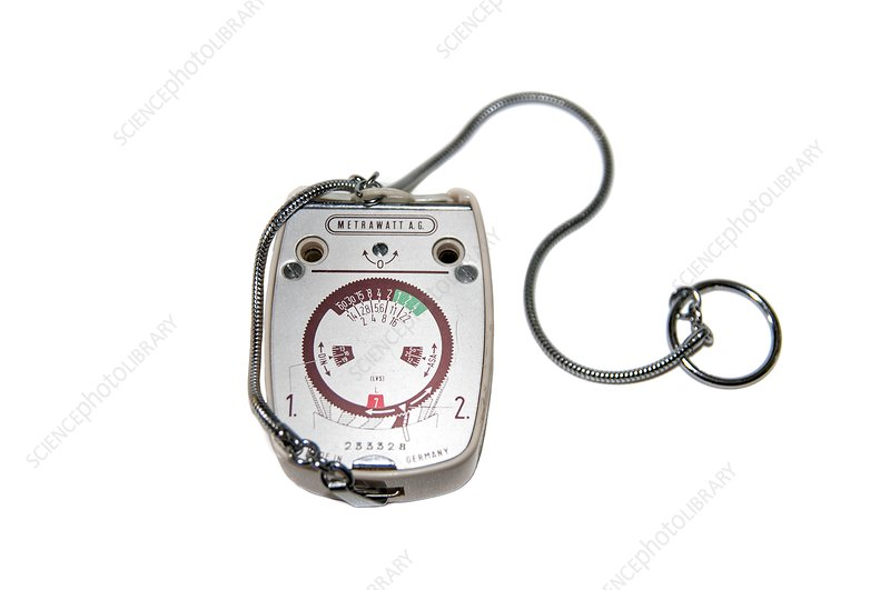 Light meter on white background