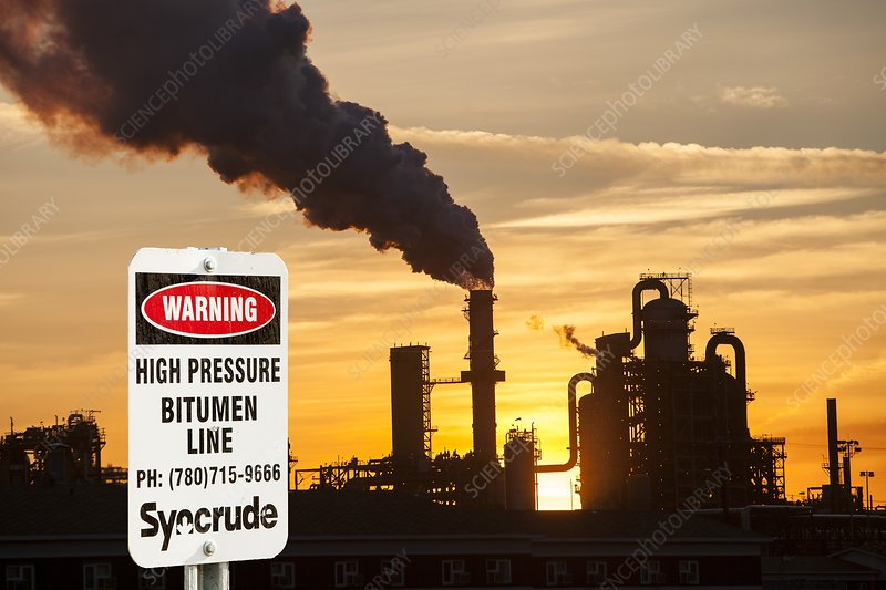 Syncrude upgrader plant