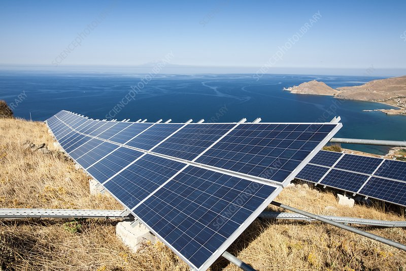 Solar power station on Lemnos, Greece