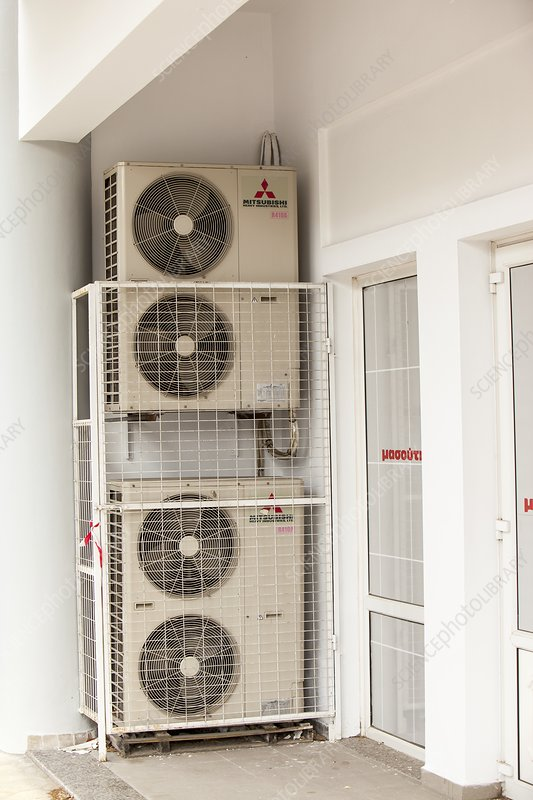 Air conditioning units on Lemnos, Greece