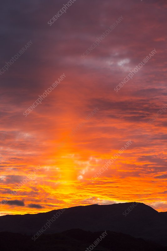 Clouds at sunset over Wetherlam