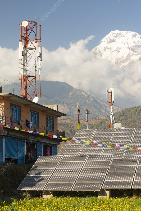 Solar photo voltaic panels at Ghandruk