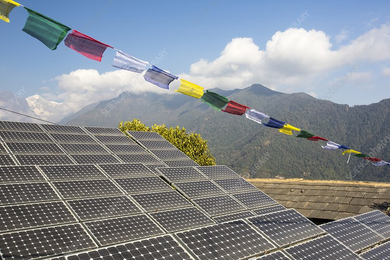 solar panels in Himalayas