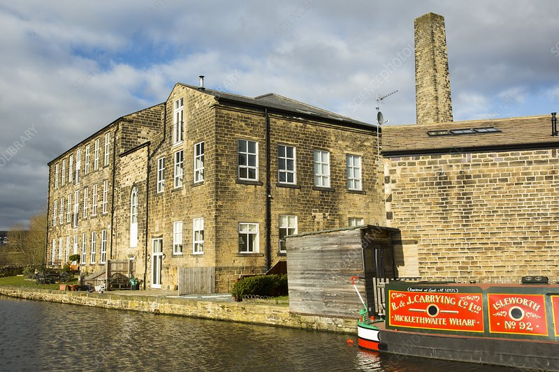 An old cotton mill converted into housing