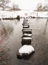 Stepping stones across the River Rothay