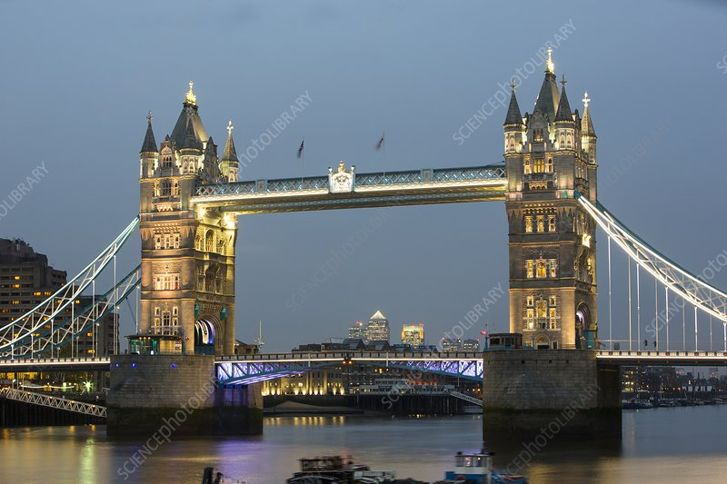 Tower Bridge across the River Thames