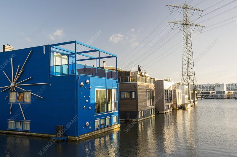 Floating house in Amsterdam
