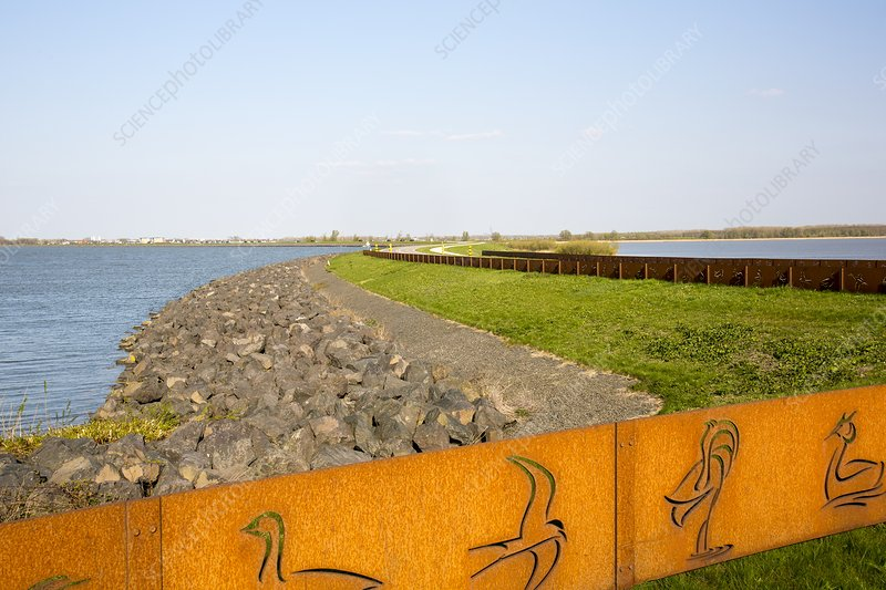 Reclaimed polder land in Holland