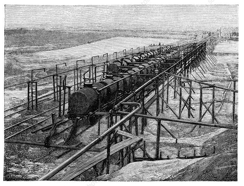 Railway oil transportation, 19th century