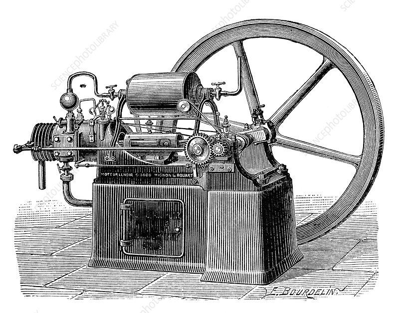 Lenoir Gas Engine  19th Century  5298