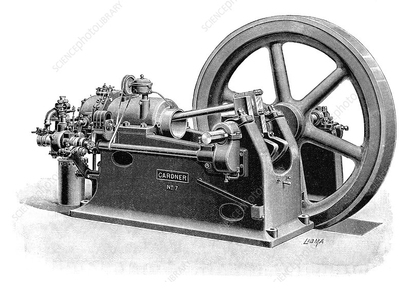 Gardner gas engine, 19th century