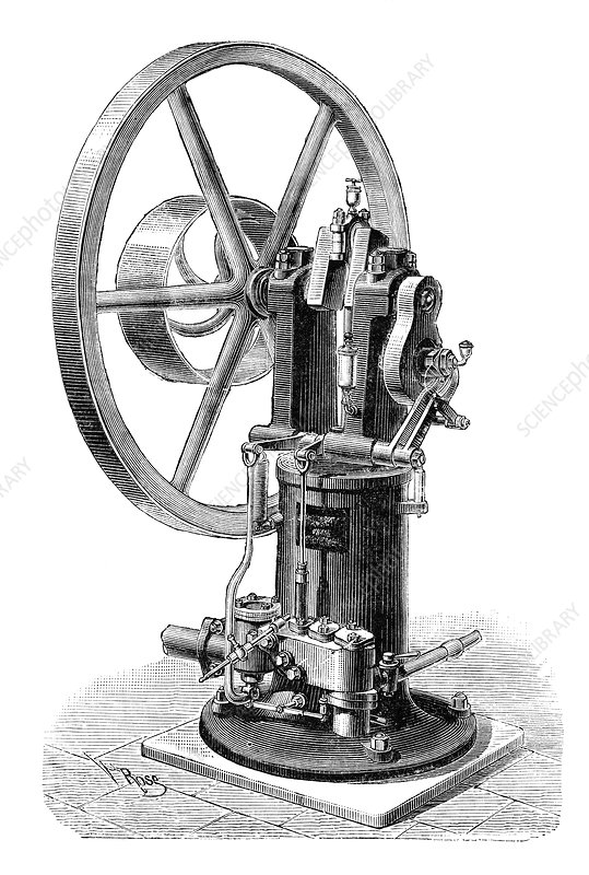 Koerting-Lieckfield engine, 19th century