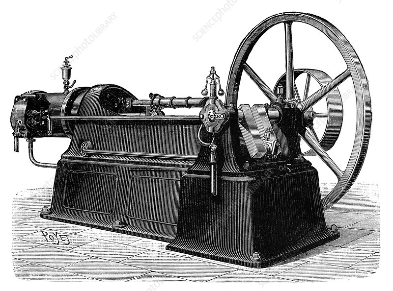 Ravel gas engine, 19th century