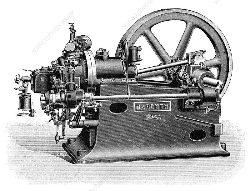 Gardner Petrol Engine Illustration Stock Image C023