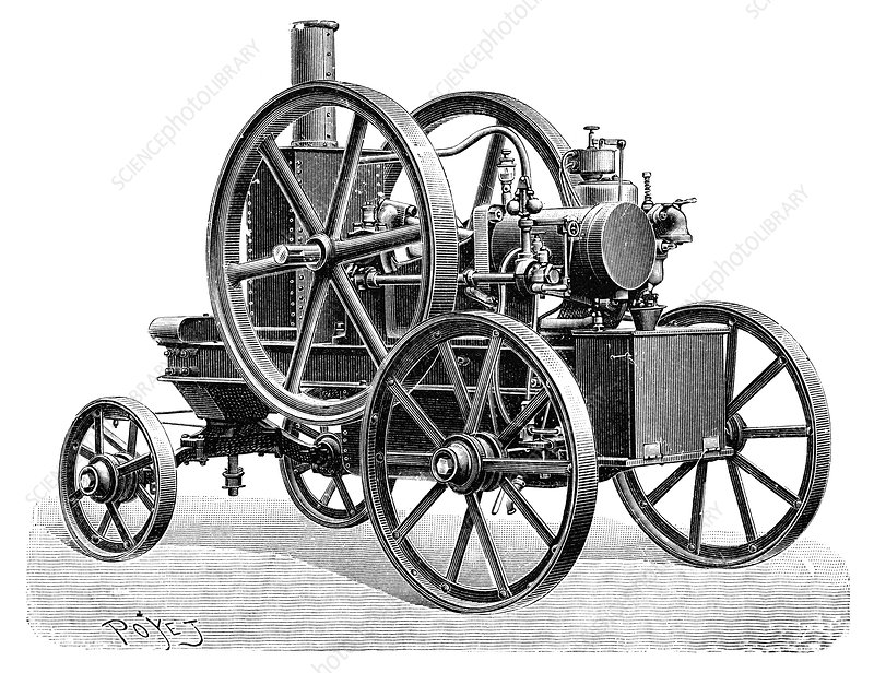 Brouhot petrol engine, illustration