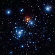 Jewel Box star cluster, optical image