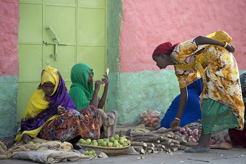 Women traders at a market in Harar