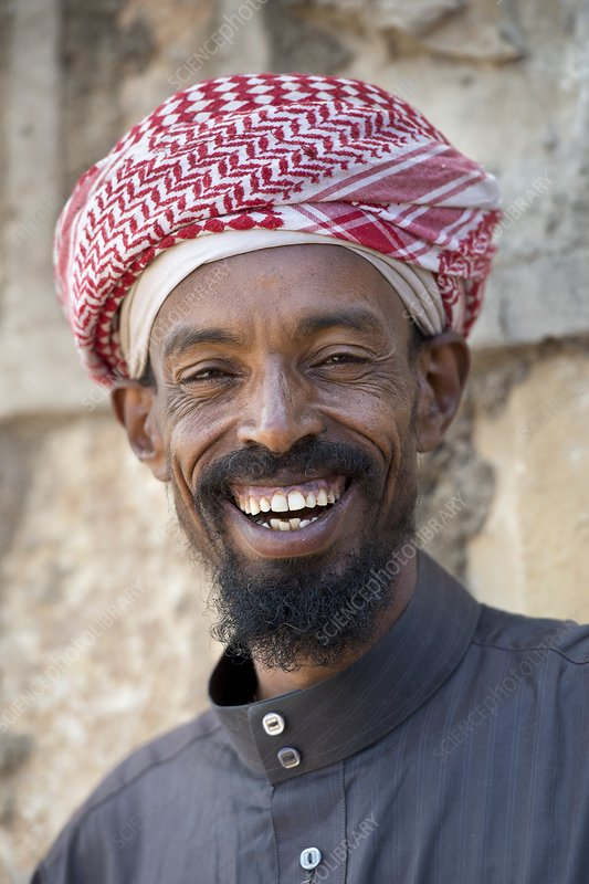 A smiling Muslim man in Harar