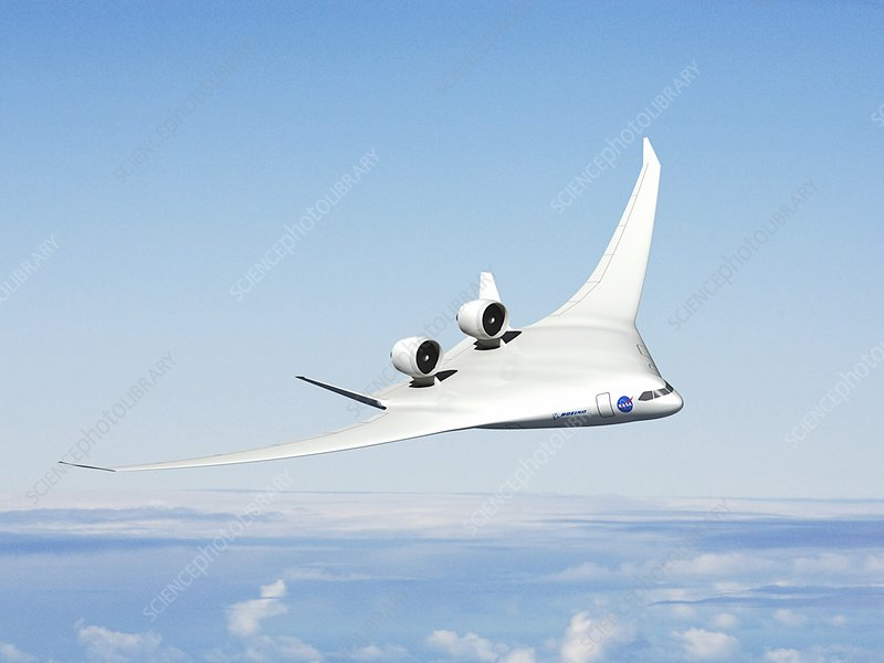 Future hybrid aircraft, illustration