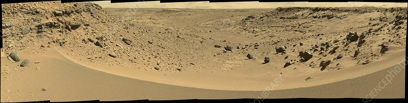 Valley on Mars, Curiosity rover image