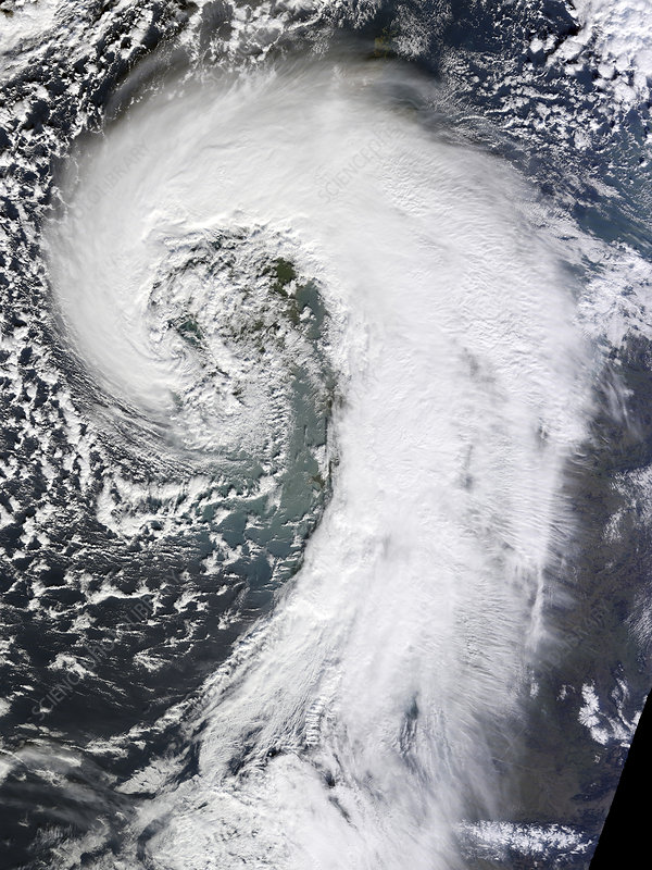 Extratropical cyclone, UK, February 2014