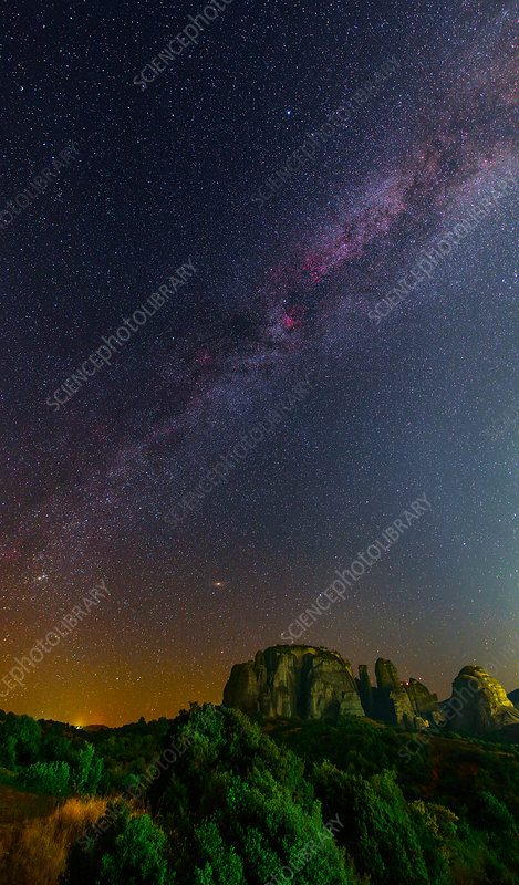 Milky Way over Meteora, Greece