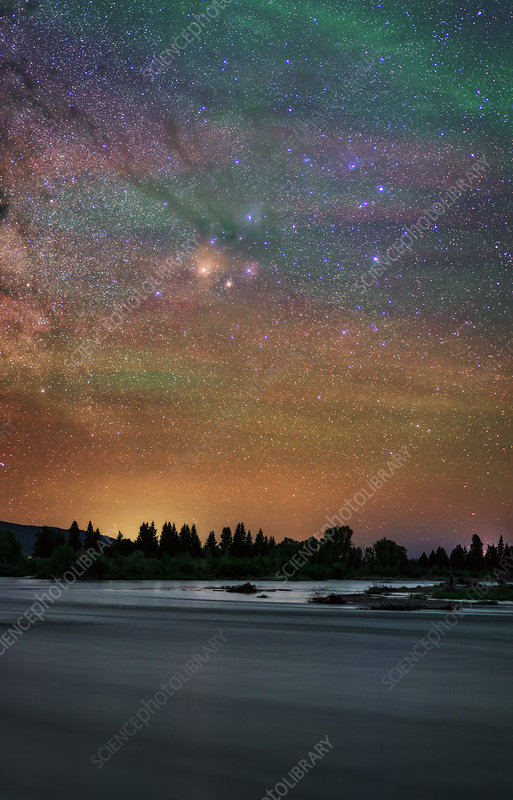 Night sky over Grand Teton National Park