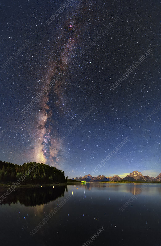 Milky Way over Grand Teton National Park