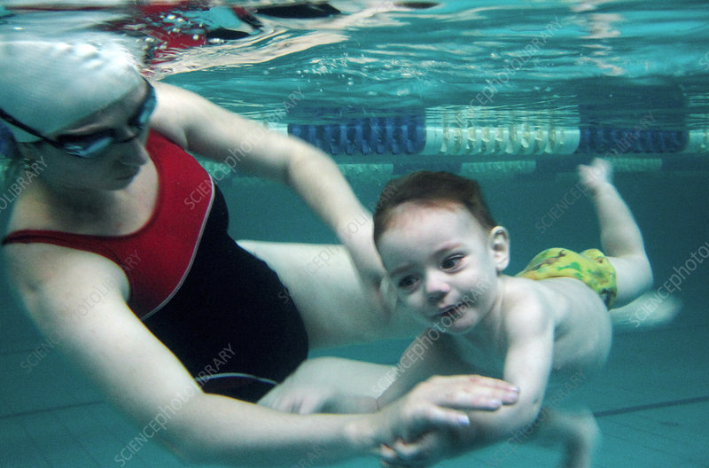 Child swimming therapy