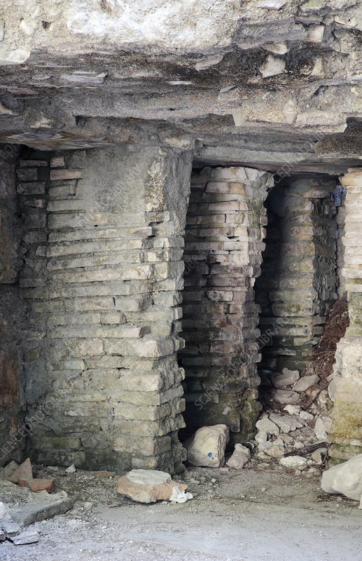 Roman hypocaust, Phaselis, Turkey