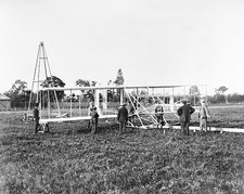 Wright Flyer II-III and catapult, 1904-5