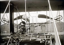 Wright biplane engine and seats, 1911
