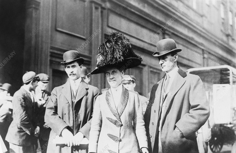 Wright brothers and sister, circa 1909
