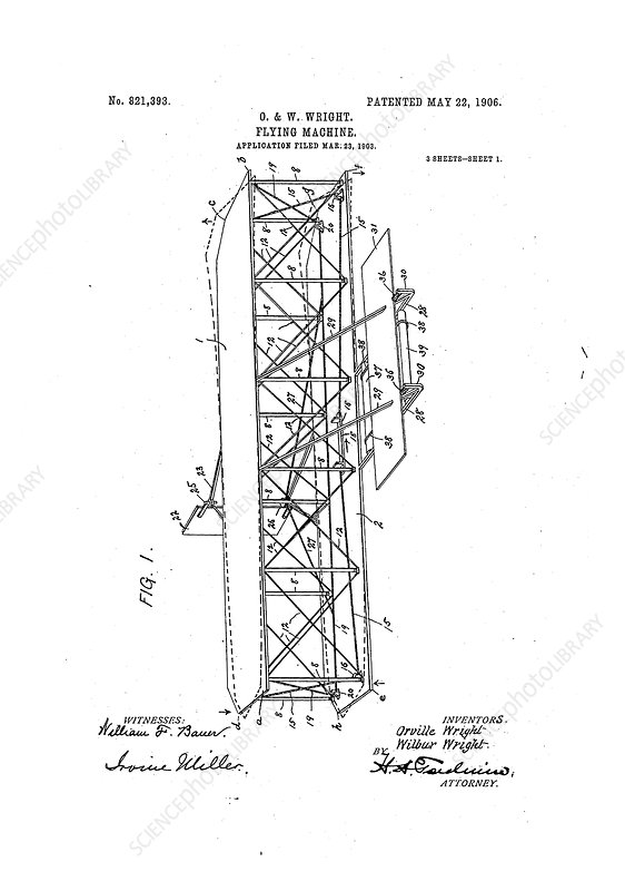 Wright Flyer patent, May 1906