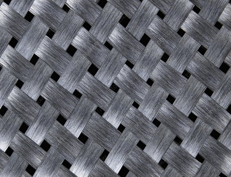 Carbon fibre fabric, Macrophotograph
