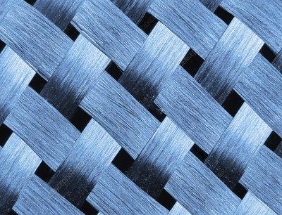 Carbon fibre fabric, Macrophotograph
