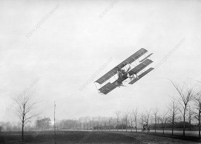 Rex Smith airplane flight, 1912