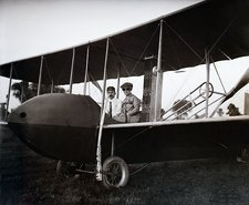 Wrights in Model HS airplane, 1915